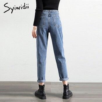 gray blue high waist jeans woman   4