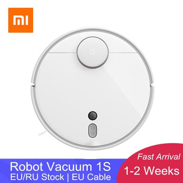 [Em estoque] 2019 xiaomi mi robô aspirador de pó 1s para casa varredura automática planejada limpeza controle app lds & câmera navegação