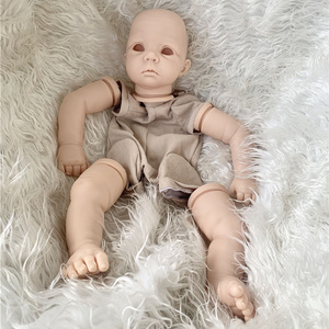 21inch Reborn Doll Kit With Cloth Body Eyes Unfinished Doll Parts Daphne Peach Colored Vinyl Doll Kits Diy Toys Lovely Face Big