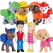 8Pcs/set Paw Patrol Toy Set Rescue Dog Set Patrol Toys Cars Ryder Anime Action Figures PVC Model Toy for Child Birthday Gift original newly come 8 set octonauts action figures child toy 6 8cm minifigures