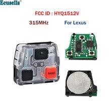 لوحة مفاتيح عن بعد للسيارة ، 2 1/3 أزرار ، 315 ميجا هرتز ، لكزس GX470 LX470 FCC ID: HYQ1512V