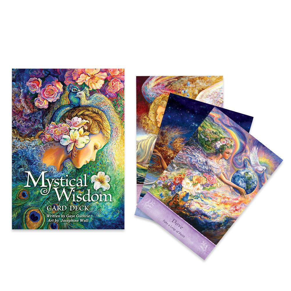 64sheets Mystical Wisdom Oracle Card Tarot Deck English Version Board Game Tarot Card For Teens Fun Table Cards Game Lovers