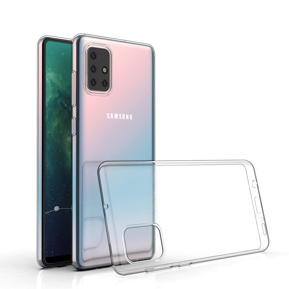 Прозрачный чехол из ТПУ для Samsung Galaxy A02 A02S A12 A32 A42 A52 A72 5G полная Защита задняя крышка телефона 42 мягкий прозрачный чехол из силиконового геля