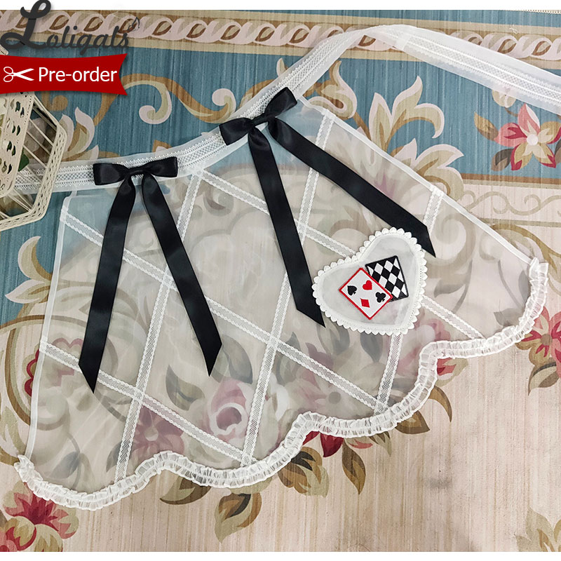 Lady Alice ~ Sweet Poker Embroidered Apron By Alice Girl ~ Pre-order