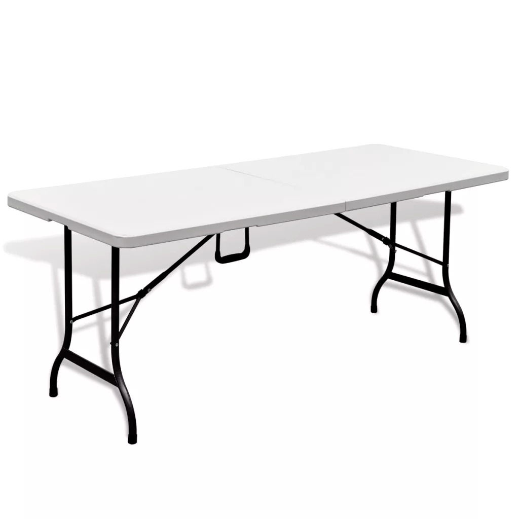 VidaXL Foldable Garden Table 180 Cm Outdoor Folding Camping Garden Tables Stool Adjustable Picnic BBQ Desk Simple Table V3