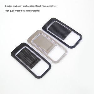 Image 5 - Car co pilot Storage Glove Box Handle Frame Stickers Car Cover Styling 2Pcs/Set For VW Golf 8 MK8 2020 2021 Accessories