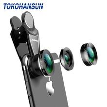 TOKOHANSUN 3-in-1 Wide Angle Macro Fisheye Lens Camera Kits Mobile