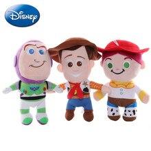 Disney 15-25cm juguete historia 4 Woody Jessie Buzz Lightyear de Anime de dibujos animados de peluche muñecos de peluche Kawaii llavero colgante juguetes para niños de regalo