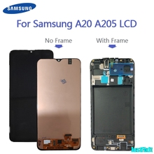 100% original para samsung galaxy a20 a205g/ds a205f/ds a205gn/ds SM A205FN/ds lcd screen display toque digitador assembléia