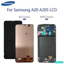 100% orijinal Samsung Galaxy A20 A205G/DS A205F/DS A205GN/DS SM A205FN/DS Lcd ekran dokunmatik ekran Digitizer meclisi