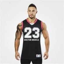 Shark Bay спортивная рубашка без рукавов майка Мужская одежда для фитнеса или бодибилдинга мужской спортивный жилет мужские майки