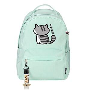 Image 5 - High Quality Neko Atsume Women Cat Backpack Kawaii Cute Bagpack Pink School Bags Cartoon Travel Backpack Laptop Daypack