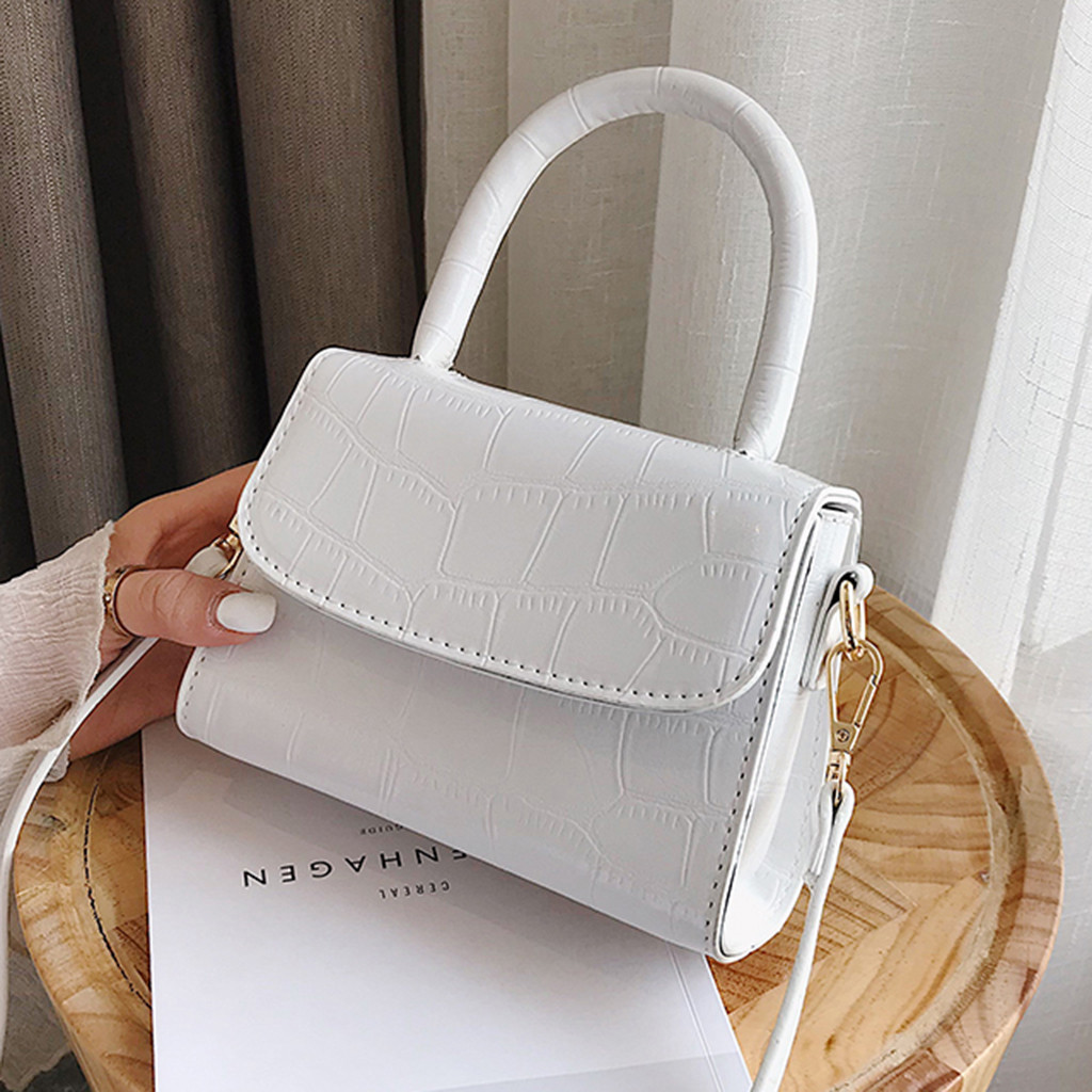 Designer Vintage Alligator Women's Handbags High Quality Female Shoulder Bags Girls Leather Purses Luxury Handbags Women Bags