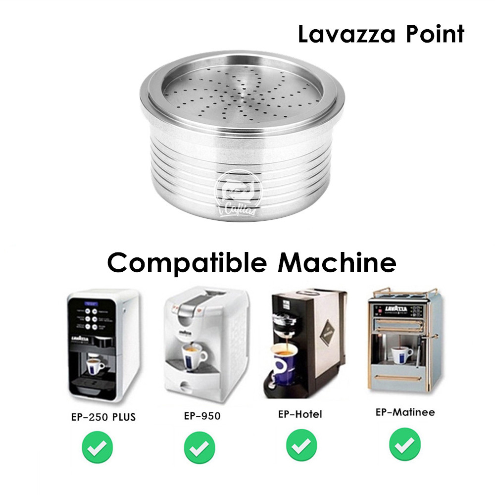 ICafilas Reusable For Lavazza Coffee Filters Stainless Steel Coffee Capsule Pod For Lavazza Espresso Point EP-950 EP-2500 PLUS