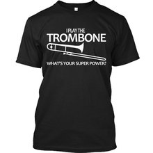 Графические футболки тромбон супер Мощность я играть какой у