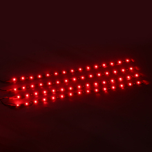 4pcs 30cm Red LED Strip Light 15LED 3528 Red Waterproof Car Truck Flexible LED Rope Bar Light DC 12V Decoration Tape 18w 1200lm 635 700nm 300 smd 3528 led red light car flexible decoration strip dc 12v 500cm