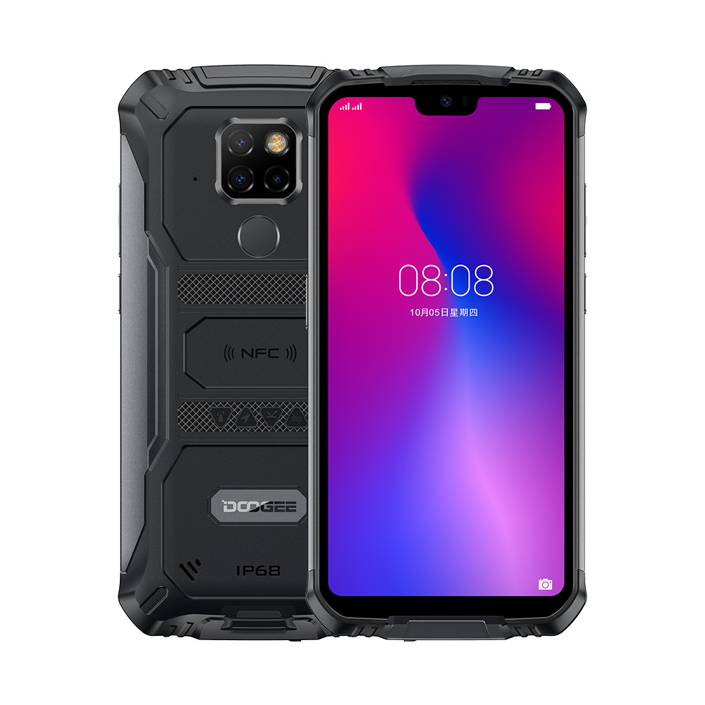 <font><b>IP68</b></font> Waterproof <font><b>DOOGEE</b></font> <font><b>S68</b></font> <font><b>Pro</b></font> Rugged Phone Helio P70 Octa Core 6GB 128GB Wireless Charge NFC 6300mAh 12V2A Charge 5.9 inch FHD+ image