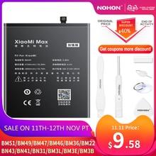 NOHON BM47 BM46 BN43 BN41 BN31 BM22 BM36 BM3B BM3E batería para Xiaomi CC9 mezclar 3 2 Mi 5 8 9 SE Pro Lite 4C 5S Max 5X Redmi 4X 3X