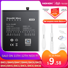 NOHON BM47 BM46 BN43 BN41 BN31 BM22 BM3L BM36 BM3E Pin Cho Xiaomi CC9 Pha 3 2 Mi 5 8 9 SE Pro Lite 4C 5S Max 5X Redmi 4X 3X
