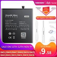 NOHON BM47 BM46 BN43 BN41 BN31 BM22 BM3L BM36 BM3Eแบตเตอรี่สำหรับXiaomi CC9 Mix 3 2 Mi 5 8 9 SE Pro Lite 4C 5S Max 5X Redmi 4X 3X