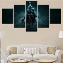 лучшая цена HD Printed Modular Picture Framework Painting Home Decor Living Room Wall Art 5 Piece DotA 2 Phantom Assassin Canvas Game Poster