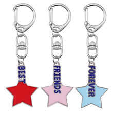 цены Couple Necklace 3-piece Set Five-pointed Star Shaped Letters Forever Best Friend Pendant Fashion Men And Women Jewelry Gift Hot