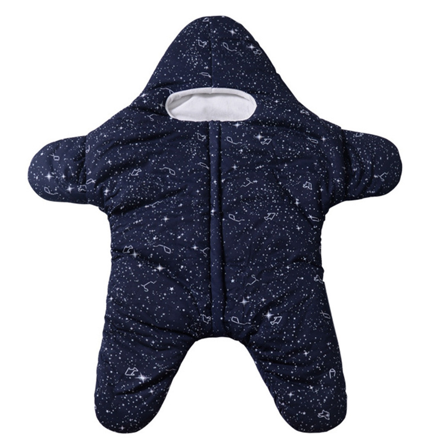 Wearable Blanket Starfish,Bunting,Sleeping Bag,Fall/Winter,Plush,Padded,Newborn,Anti-Kicking