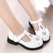 Shoes Kids Sandals Dress Flowers Wedding Flat Girls White Children's Black for Footwear