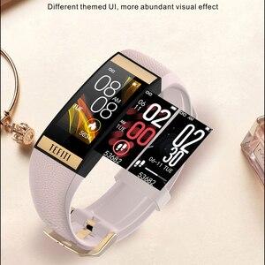 Image 4 - Gelée peigne femmes montre intelligente hommes Bracelet IPS couleur écran moniteur de fréquence cardiaque pression artérielle dames Smartwatch pour IOS android