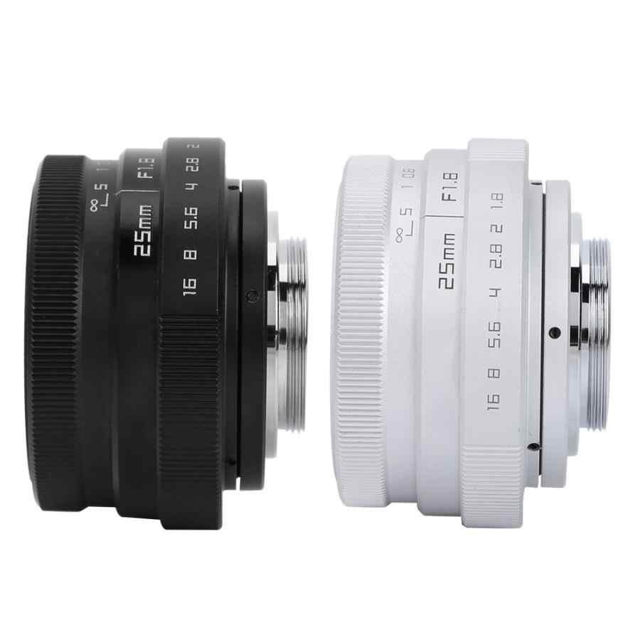 Lente para teléfono móvil 25mm F1.8 Mini CCTV C lente óptica gran angular para cámara Sony Nikon Canon DSLR