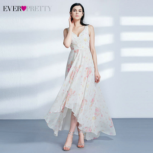 Image 5 - Elegant Chiffon Bridesmaid Dresses Ever Pretty A Line Off The Shoulder Ruffles Side Split Floral Printed Wedding Guest Dresses