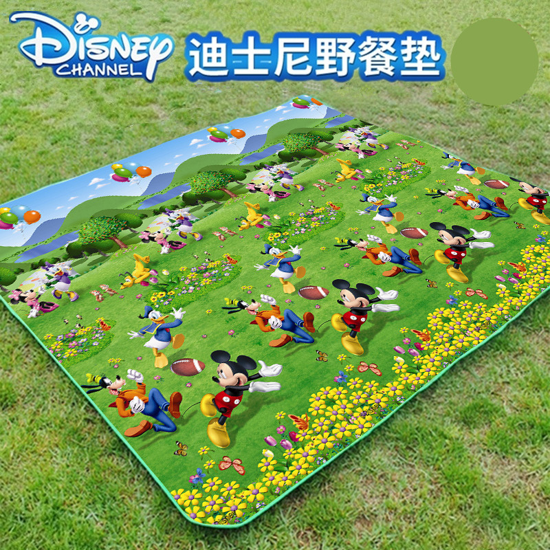 Мультфильм Mickey Minnie Picnic Mat Camping Beach Mat Thuren Pad дышащий мягкий открытый складной водонепроницаемый дети Playmat