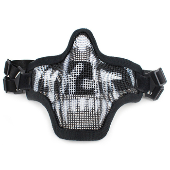 Tactical Airsoft Half Face Mask Breathable Steel Wire Mesh Protection Mask Army Fan Paintball CS Shooting Equipment Helmet Mask new outdoor black airsoft helmet mesh airsoftsports motorbike helmet helmet full face mask army fan