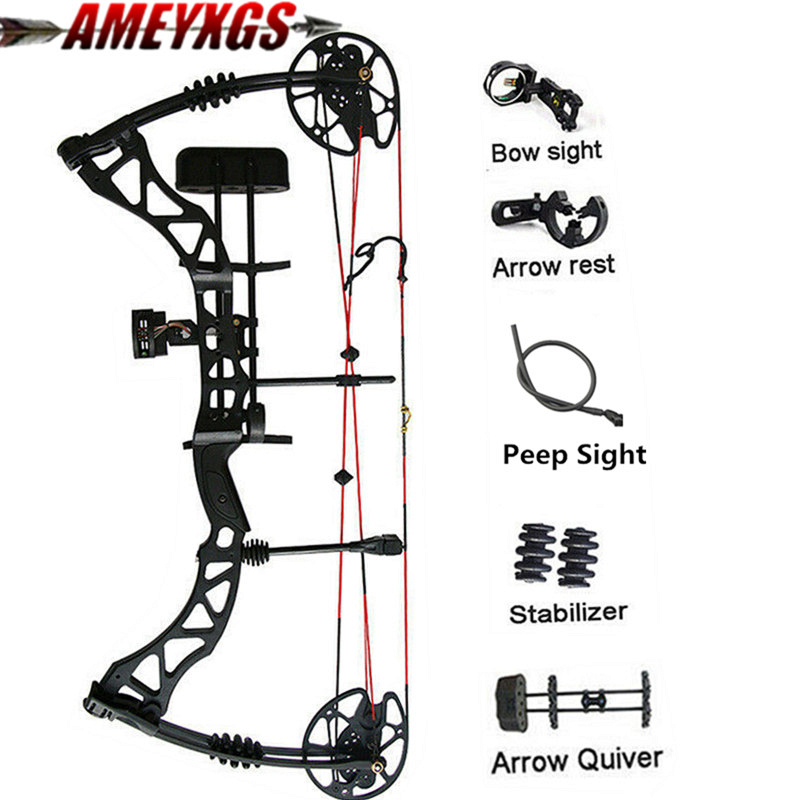 Archery Compound Bows 25-60lbs Adjustable Hunting Bow Adult 329FPS Alloy Right Hand Bow For Outdoor Hunting Shooting Archery