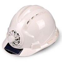 태양 전원 조정 가능한 야외 안전 팬 보호 선 스크린 사이클링 직장 모자 환기 보안 건설 헬멧