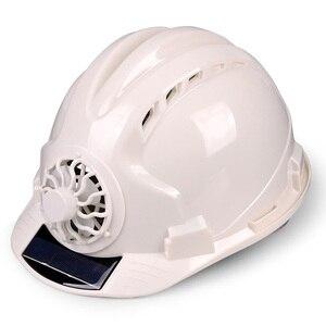 Image 2 - 職場帽子ソーラーパワー調節可能な屋外安全とファンプロテクティブサンスクリーンサイクリング換気セキュリティ建設ヘルメット