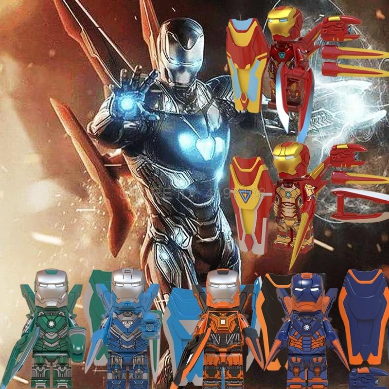 Avengers Endgame Iron Man Mark Pepper Potts Building Blocks Captain America Marvel Thanos Hulk Thor IronMan Spider Man Baby Toys