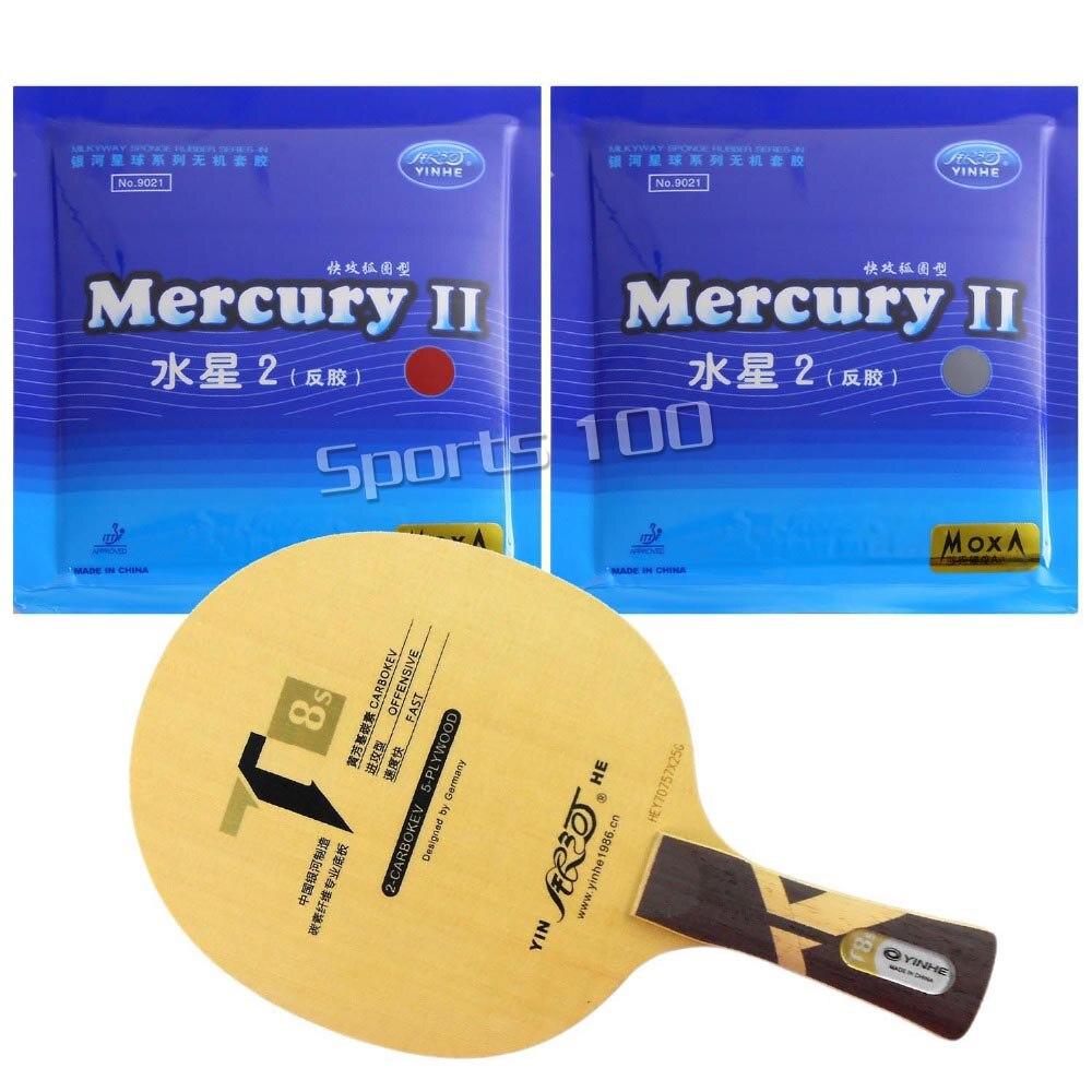 Pro Tischtennis PingPong Combo Schläger Galaxy YINHE T8s mit 2 Stück Mercury II Lange Shakehand FL-in Tischtennisschläger aus Sport und Unterhaltung bei AliExpress - 11.11_Doppel-11Tag der Singles 1