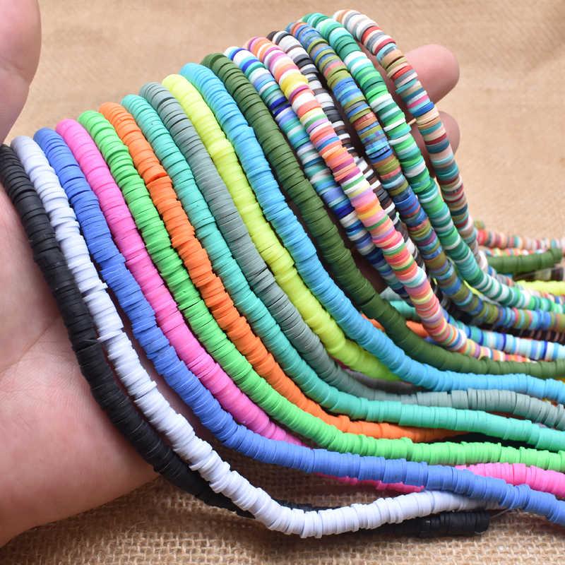 6mm plat rond polymère argile perles puce disque entretoise en vrac perles à la main pour bijoux à bricoler soi-même faisant Bracelet trouver des couleurs mélangées