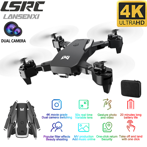 2020 New drone KK6 RC Drone 4K HD Dual Camera 50X Times Zoom WIFI FPV Foldable Quadcopter One-click Return Kids Toys Pakistan