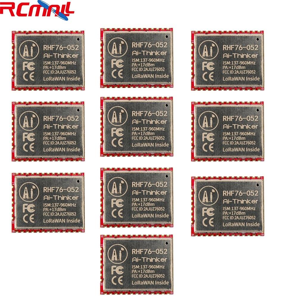 10Pcs/lot SX1276 RHF76-052 LoRa Module 433MHz 470MHz 868MHz 915MHz LoRaWAN Wifi Transceiver Module STM32L052C8T6 15Km FZ2853