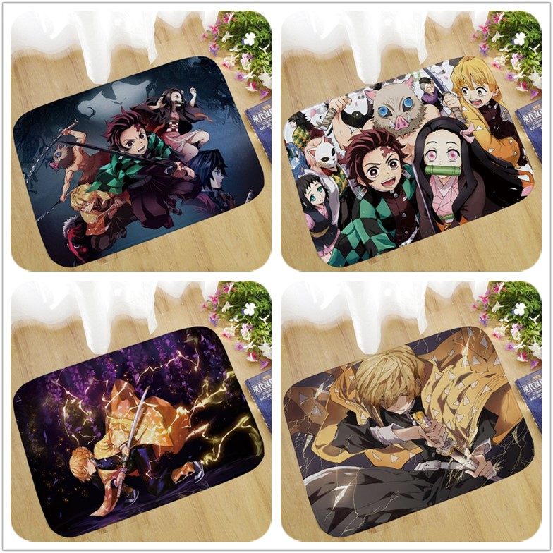 40 Type Anime Demon Slayer: Kimetsu No Yaiba Tomioka Giyuu Figure Pad Carpet Rug Plush Bedroom Living Room Gift
