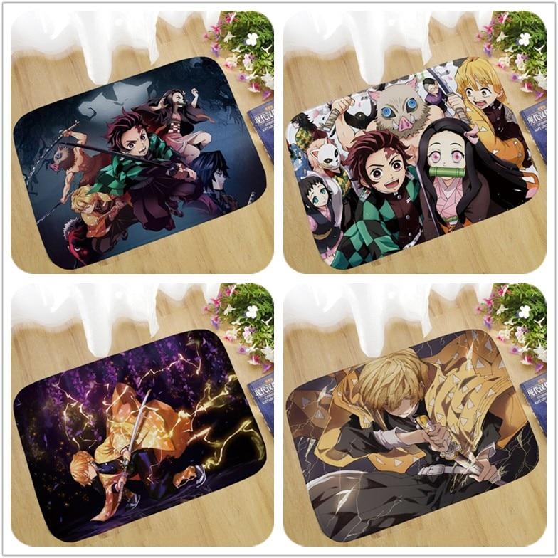 40 Type Anime Demon Slayer: Kimetsu No Yaiba Tomioka Giyuu Figure Pad Carpet Rug Plush Bedroom Living Room Gift
