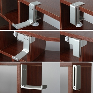 Image 2 - Universal Aluminium Alloy Headphone Holder Headset Bracket Hanger Metal Wall Clamp Hook Foldable Earphone Stand Desktop