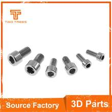 10pcs/lot 304 stainless steel cylinder head hex socket head bolts M3 M4 M5 screw fastening screw cup for CR-10 ender-3 printer(China)