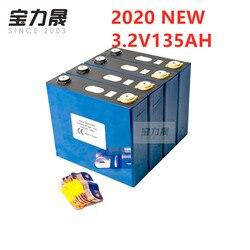 4PCS 3.2V 135AH lifepo4 Batteria Ricaricabile Al Litio Ferro Fosfato Cellulare solare 24V 12V celle non 150Ah 150ah UE STATI UNITI TASSA di TRASPORTO