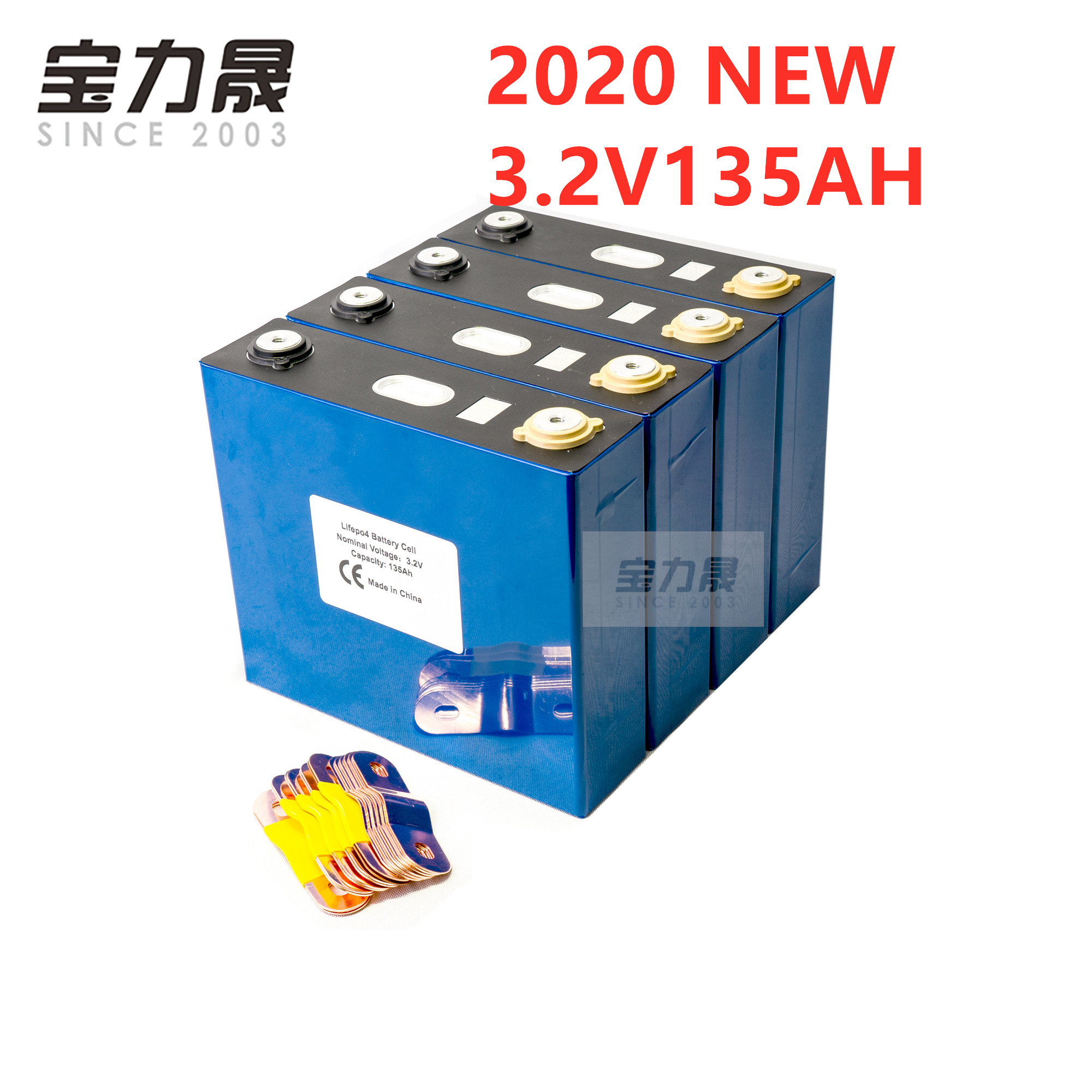 4PCS 3.2V 135AH Lifepo4 Rechargeable Battery Lithium Iron Phosphate Cell Solar 24V 12V  Cells Not 150Ah 150ah EU US TAX FREE