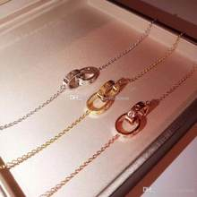 C Famous Brand Jewelry Designer Chains 925 Sterling Silver Material Necklace Rose Gold Silver Rings Circles Necklace Bracelet(China)