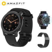 """Versão global huami amazfit gtr 42mm relógio inteligente gps 12 dias bateria vida 5atm controle de música à prova dwaterproof água 1.2 """"amoled"""