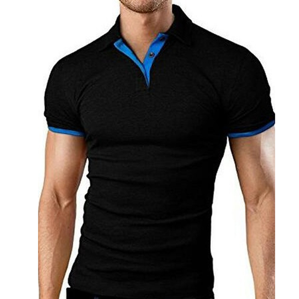 Covrlge Polo Shirt Men Summer Stritching Men's Shorts Sleeve Polo Business Clothes Luxury Men Tee Shirt Brand Polos MTP129 3